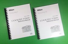Laser Printed Nikon P7800 Reference Camera 270 Page Owners Manual Guide