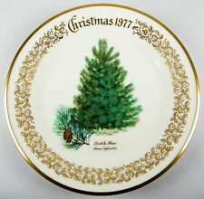 Lenox Christmas Tree Scotch Pine 1977 Annual Collector Plate Fine China Usa