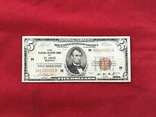 FR-1850H  ULTRA RARE 1929 Series $5 St Louis Federal Reserve Bank Note FRBN *VF*