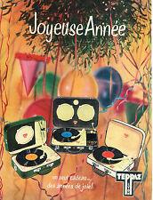 PUBLICITE ADVERTISING 084  1958   TEPPAZ   tourne-disque éléctrophone