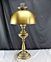 Vintage 70's GWTW Style Electric Table Lamp Brass