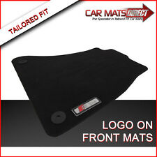 Audi A4 S Line (07-15) Tailored Car Floor Mats Black Velour Carpet with Logos