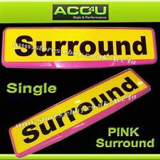 Quality Pink Car License Registration Number Plate Single Surround Frame Holder