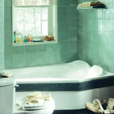 NEPTUNE VENUS 60x42 CONTEMPORARY CORNER BATH TUB WITH WHIRLPOOL SYSTEM