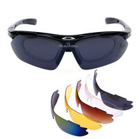 5 Lens Bicycle Cycling Sports Sun Goggles Glasses UV400 Sun Riding Eyewear
