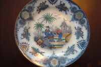 "Villeroy & Boch Wallerfangen Germany ""SIAM"" Antique plate, c1880s[4mulber]"