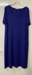Marina Rinaldi 100% Wool Fine Knit T-Shirt / Shift Dress Size M