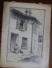 "FRANK ARMINGTON "" au soleil "" etching , limited edition 4/30"