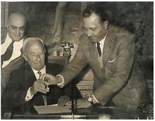 Italia, Achille Lauro e Alfredo Covelli  Vintage silver print Tirage argentiqu