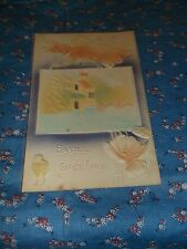 Old Postcard 1911 Richland Center Wis   Easter Greetings  Pretty Pastels