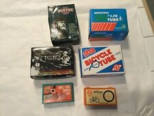 Estate Lot of boxed BICYLE Tubes and puncture repair kits