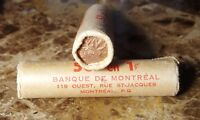 Canada 1966 Original Bank Wrapped OBW Roll of Pennies!!
