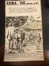 "Tavola originale 1975 di Silio Romagnoli per "" Storia di Roma"" n° 7  27/10/15"