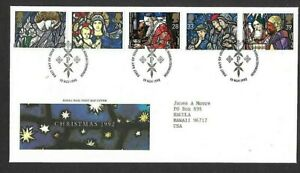 Great Britain Scott #1468-1472 Christmas 1992 Royal Mail FDC VF