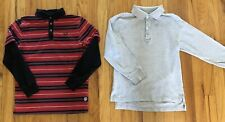 Boys Izod Shaun White Polo Shirts Tops Gray Uniform Red Sz Medium 7/8 Lot