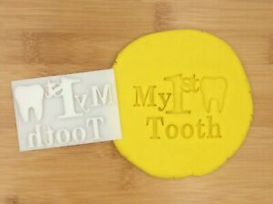 My 1st Tooth Kids Tooth Cookie Fondant Stamp Cake Biscuit Embosser