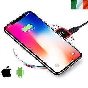 Fast Qi Wireless Charger Charging Pad For Samsung Apple iPhone
