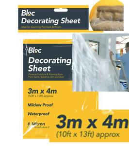 Large Polythene Dust Sheet Cover DIY Decorators Decorating Painting Furniture UK
