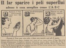 V0568 Crema depilatoria VEET - Pubblicità d'epoca - 1931 vintage advertising