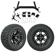 """GTW 5"""" EZGO TXT Golf Cart Lift Kit With A/T Tires & 12"""" Wheels Fits 2001.5-Up"""