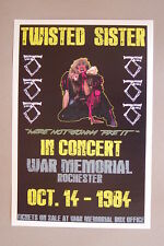 Twisted Sister Concert Tour Poster 1984 War Memorial Rochester-