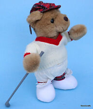 Ganz Arnold Golfer Teddy Bear 9.5in Heritage Plush 1992 Golf Club Tam Hang Tag