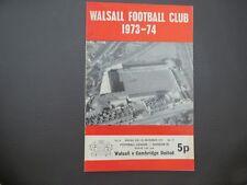 Walsall  V Cambridge     1973/4