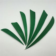 "50pcs 3"" 4"" 5"" Green Rw Archery Fletches Natural Feathers Arrow Accessories"
