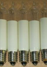 10 Schaftkerzen 14 V, 3WATT E10 60 mm Kleinschaftkerze Schwippbogen, Schaftkerze