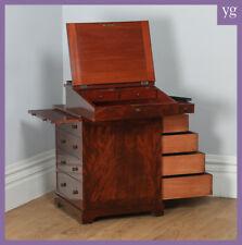 Antique English Georgian Regency Flame Mahogany Davenport Writing Office Desk