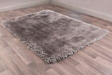 Ultimate Mayfair Silver Coloured Hand Tufted Dense Shaggy Rug various sizes
