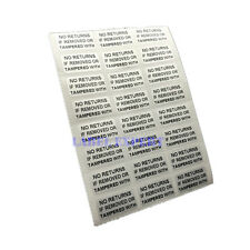 100 Tamper Proof No Returns If Removed Warranty Void Security Stickers 20x10mm