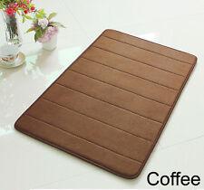 "24"" Non-Slip Back Rug Soft Bathroom Carpet Memory Foam Bath Mat Coffee New"