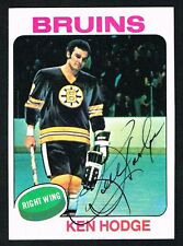 Ken Hodge #215 signed autograph auto 1975-76 Topps Hockey Trading Card