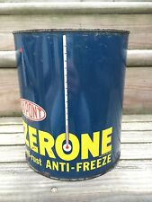 Vintage Du Pont ZERONE Anti-Rust Anti- Freeze Advertising 1 Gal Oil Tin Can Sign