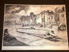 Corsa o gara di canoa sul Tamigi Inghilterra nel 1857 Canottieri e Regata Regate