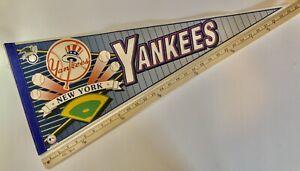 "Vintage 1990s WinCraft New York Yankees Baseball Pennant 30"" x 12"""