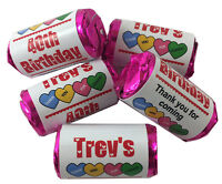 Personalised Birthday Party Love Heart Sweets Favours 13th 16th 18th 21st 30 40
