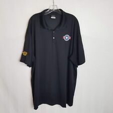Nike Golf Dri-Fit Mens Polo Shirt Eckrich Operation Homefront Black Sz 3XL X330