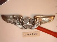 44530 WWII USAAF 3 INCH STERLING PINBACK NAVIGATOR WING