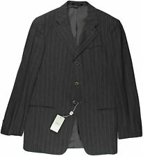 ARMANI COLLEZIONI GRAY STRIPED SUIT-40-MADE IN ITALY