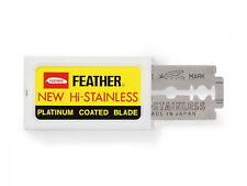 Feather New Hi-Stainless Lame rasoio platinum