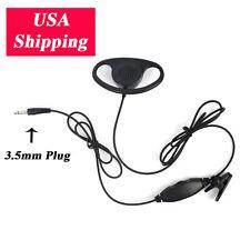 3.5mm Plug Listen Only D-Shape Earpiece Sport Headphone Earphone for 2 way Radio
