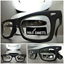 Men or Women CLASSIC VINTAGE 60's RETRO Clear Lens EYE GLASSES Matte Black Frame