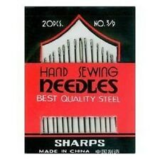 PACK OF 20 HAND SEWING NEEDLES ASSORTED SIZES SHARPS,same day dispatch.*