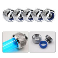 5Pcs Water Cooling Hard Tube Rigid Tubing Connector G1/4 Thread for Computer PC
