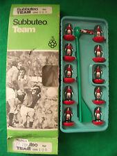 En Caja Subbuteo C100 Zombie Equipo N ° 100 Manchester United Hp Pintado A Mano versión