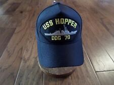 1769c3637be USS HOPPER DDG-70 NAVY SHIP HAT U.S MILITARY OFFICIAL BALL CAP U.S.A MADE