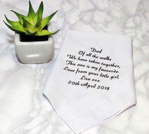 Personalised handkerchief, Mens handkerchief, Father of the bride, Wedding hanky