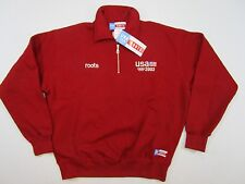 Rare Roots Canada 2002 USA Winter Olympics Pullover half zip men's small NWT